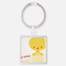 Just Hatched Square Keychain