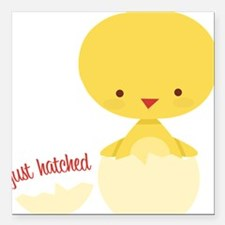 """Just Hatched Square Car Magnet 3"""" x 3"""""""