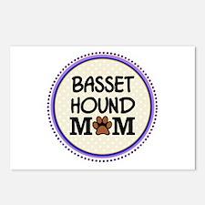 Basset Hound Dog Mom Postcards (Package of 8)