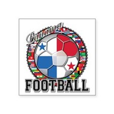 "Panama Flag World Cup Footb Square Sticker 3"" x 3"""