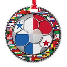 Panama Flag World Cup Football Socc Ornament