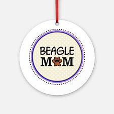 Beagle Dog Mom Ornament (Round)