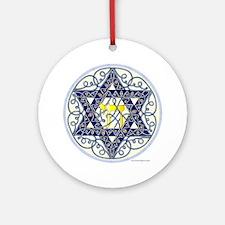 Celtic Art Star of David Round Ornament