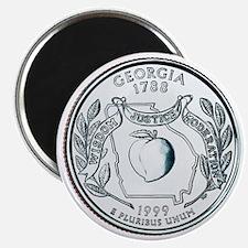 Georgia State Quarter Magnet