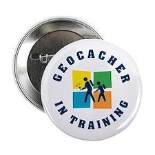 Geocacher in Training Button