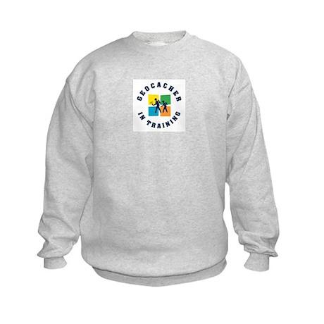 Geocacher in Training Kids Sweatshirt