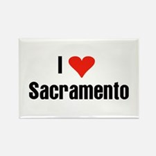 I Love Sacramento Rectangle Magnet