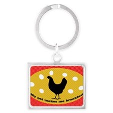 sticker-chick-1 Landscape Keychain
