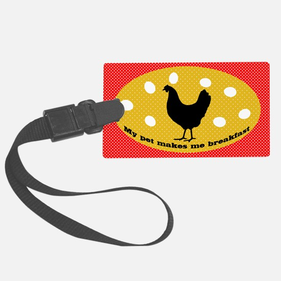 sticker-chick-1 Large Luggage Tag