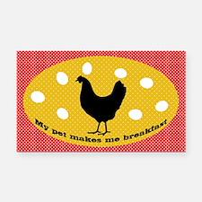 sticker-chick-1 Rectangle Car Magnet