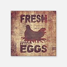 "fresheggs3 Square Sticker 3"" x 3"""