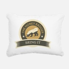 honeybadgerfinalbringit Rectangular Canvas Pillow