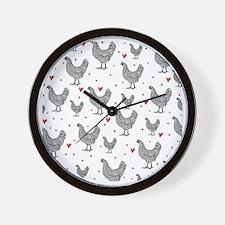 showercurtain-chickens-2 Wall Clock