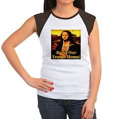 Bring Our Troops Home Mona Li Women's Cap Sleeve T