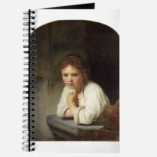 Girl at a Window - Rembrandt - c1645 Journal