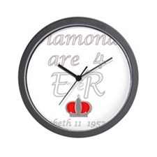 Diamonds are for ER Jubilee Year 2012_s Wall Clock