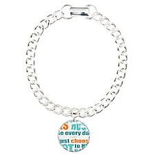 6x6 MS Hugs Charm Bracelet, One Charm