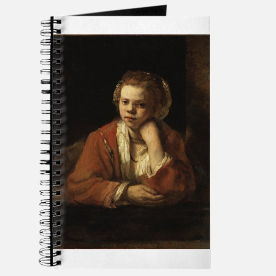 Girl at a Window - Rembrandt - c1651 Journal