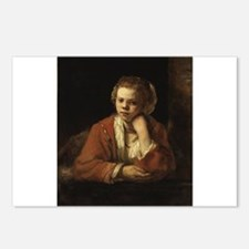 Girl at a Window - Rembrandt - c1651 Postcards (Pa