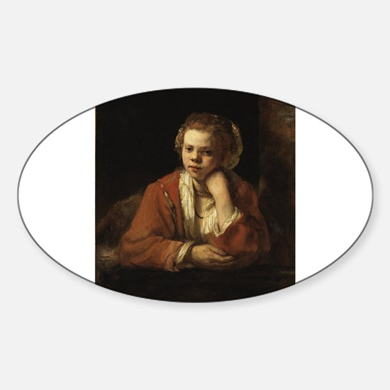 Girl at a Window - Rembrandt - c1651 Decal