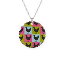poster-chickenpopart Necklace