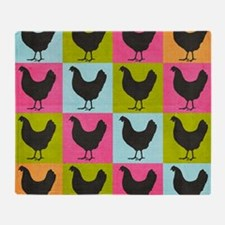 poster-chickenpopart Throw Blanket