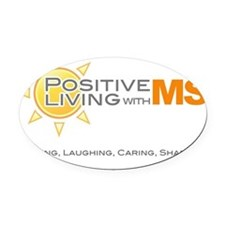 6x6 Positive Living Oval Car Magnet