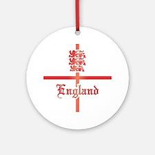England COA 2 Clock Round Ornament
