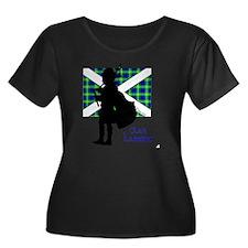 Lamont P Women's Plus Size Dark Scoop Neck T-Shirt