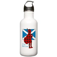 Wallace Piper and Flag Water Bottle