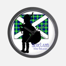 Scotland Piper Flag 2 Wall Clock