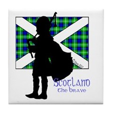 Scotland Piper Flag 2 Tile Coaster
