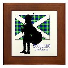 Scotland Piper Flag 2 Framed Tile