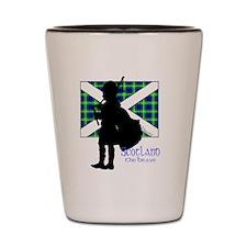 Scotland Piper Flag 2 Shot Glass
