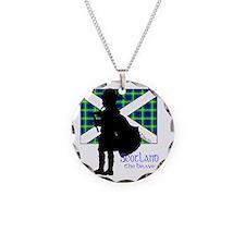 Scotland Piper Flag 2 Necklace