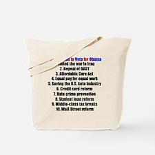 obamareasonsblackt Tote Bag