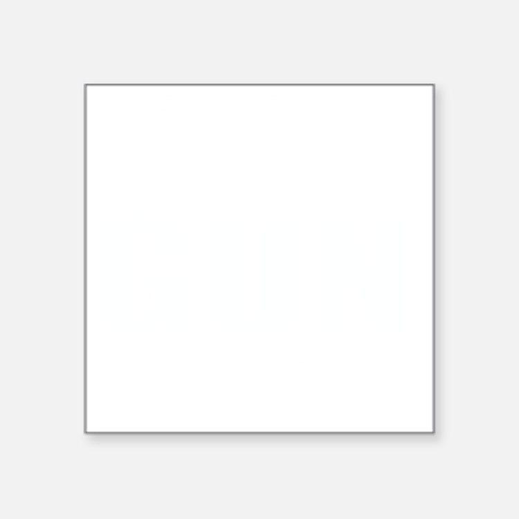 """GUN HOLSTERS white Square Sticker 3"""" x 3"""""""