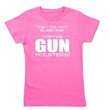 GUN HOLSTERS white Girl's Tee