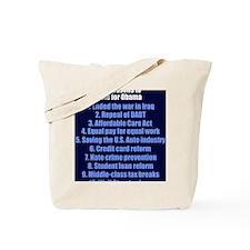 obamareasonsjournal Tote Bag