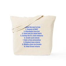 obamareasonswhblue Tote Bag