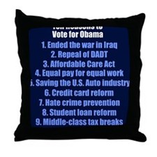obamareasonsjournal Throw Pillow
