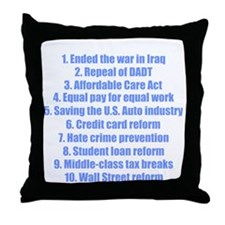 obamareasonswhblue Throw Pillow