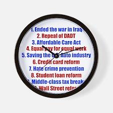 obamareasonswh Wall Clock