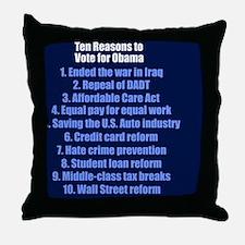 obamareasonsbutton Throw Pillow