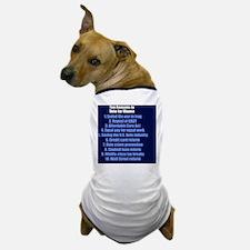 obamareasonsbutton Dog T-Shirt