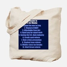 obamareasonsbutton Tote Bag