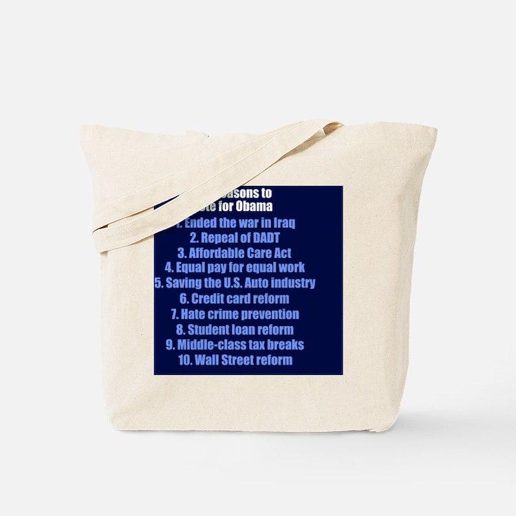 obamareasonsbutton Tote Bag