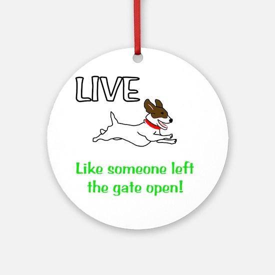 Live_Gate Round Ornament
