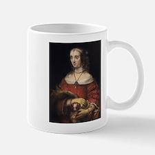 Portrait of a Lady with a Lap Dog - Rembrandt - c1