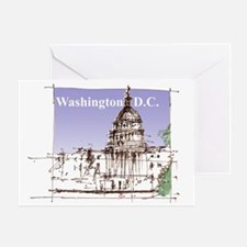 us capital 3 Greeting Card